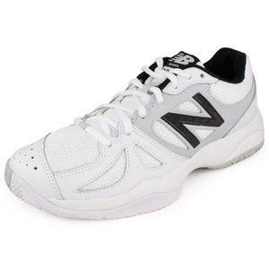 NEW BALANCE WOMENS 696 B WIDTH TENNIS SHOES WH/SILV