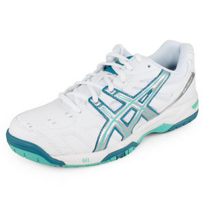 ASICS WOMENS GEL GAME 4 TENNIS SHOES WH/TEAL