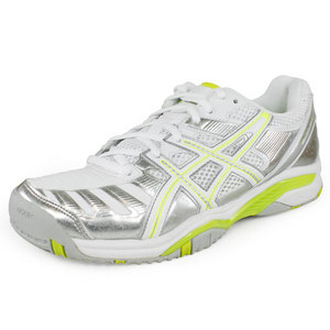 Women`s Gel Challenger 9 Tennis Shoes Silver and Green