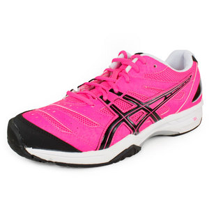 Women`s Gel Solution Slam Tennis Shoes Pink Glo/Black