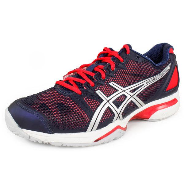 Womens Gel Solution Speed Tennis Shoes Eclipse/Lightning/Diva Pink