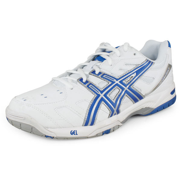 Men's Gel Game 4 Tennis Shoes White/Royal Blue/Silver