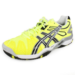 ASICS MENS GEL RESOLUTION 5 TENNIS SHOES YL/BK