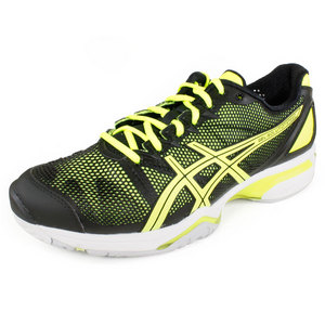 ASICS MENS GEL SOLUTION SPEED SHOES BK/YL