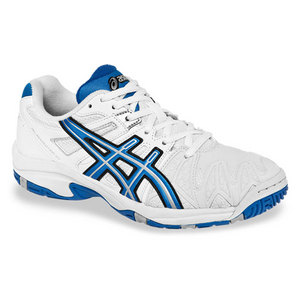 Juniors Gel Resolution 5 GS Tennis Shoes White/Royal Blue