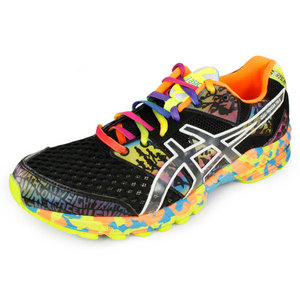 ASICS MENS GEL NOOSA TRI 8 SHOES ONYX/CONFETTI