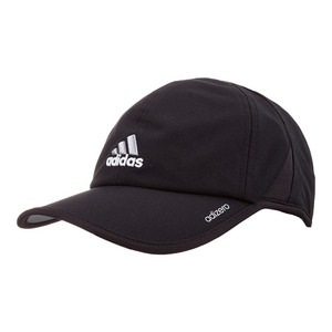 Men`s Adizero II Tennis Cap Black and Aluminium