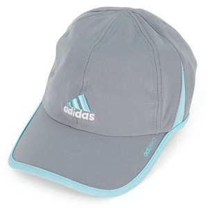 adidas WOMENS ADIZERO II TENNIS CAP GREY/BLUE