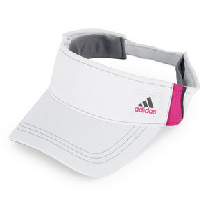 adidas WOMENS ATHLETE TENNIS VISOR WHITE/PINK