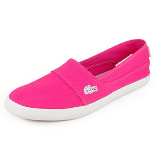 LACOSTE WOMENS MARICE JAW SHOES DARK PINK