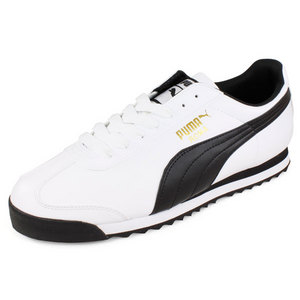 PUMA MENS ROMA BASIC SPORT SHOES WHITE/BLACK
