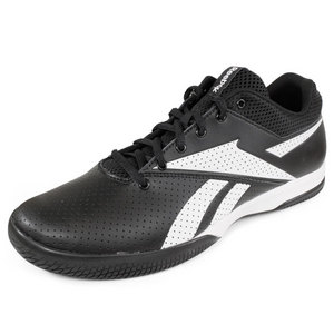 REEBOK MENS ON THE RISE LITE SHOES BLACK/WHITE