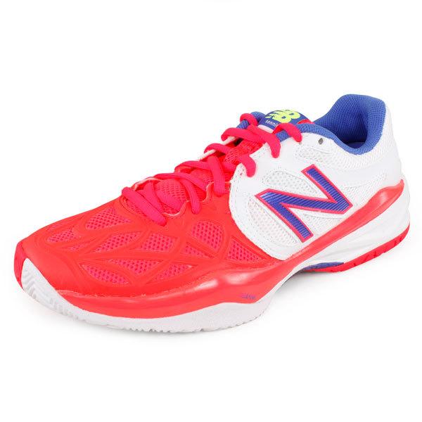 Women's 996 B Width Tennis Shoes White/Pink
