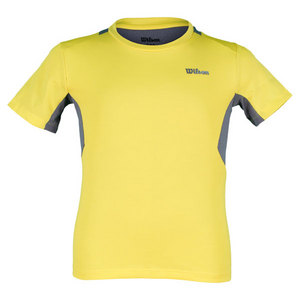 WILSON BOYS GREAT GET TENNIS CREW GOLD/GREY
