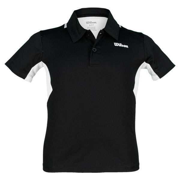 Boy's Great Get Tennis Polo Black/White