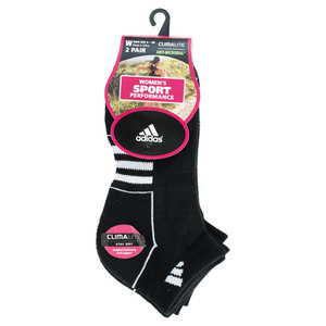 adidas WOMENS CLIMALITE II LOW-CUT SOCKS BLACK