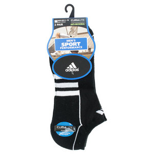 adidas MENS CLIMALITE II NO SHOW BLACK SOCKS