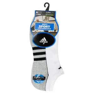 adidas MENS CLIMALITE II NO SHOW WHITE SOCKS