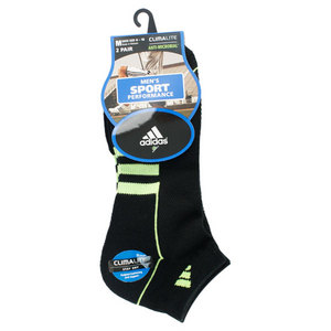 adidas MENS CLIMALITE II LOW CUT 2 PACK SOCKS