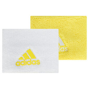 adidas SMALL TENNIS WRISTBAND WHITE/YELLOW