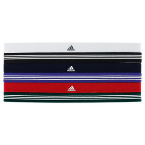 adidas WOMENS SIDESPIN HAIRBAND 6-PACK ASSORTED