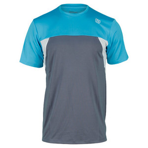WILSON MENS PURE BATTLE TENNIS CREW FLINT GREY