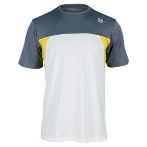 WILSON MENS PURE BATTLE TENNIS CREW WHT/GRY/GLD