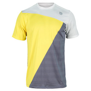 WILSON MENS TOUGH WIN TENNIS CREW WHITE/GOLD