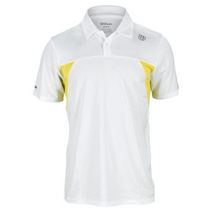 WILSON MENS PURE BATTLE TENNIS POLO WHITE