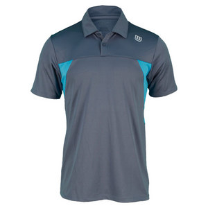 WILSON MENS PURE BATTLE TENNIS POLO GREY
