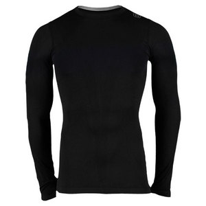 WILSON MENS LONG SLEEVE SEAMLESS CREW BLACK