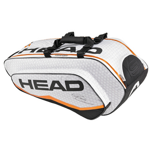 HEAD DJOKOVIC COMBI TENNIS BAG WHITE/GRAY