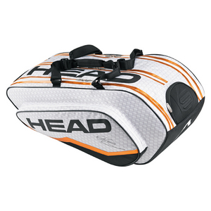 HEAD DJOKOVIC MONSTERCOMBI TENNIS BAG WH/GY