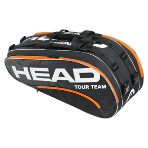 HEAD TOUR TEAM COMBI TENNIS BAG BLACK/ORANGE