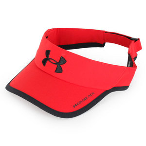UNDER ARMOUR MENS ARMOURLIGHT VISOR RED/BLACK