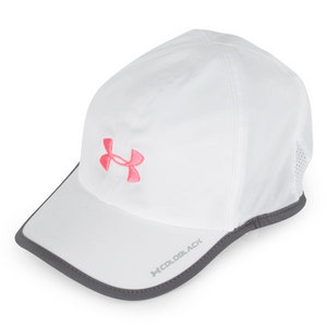 UNDER ARMOUR WOMENS ARMOURLIGHT CAP WHITE/STEEL/PINK