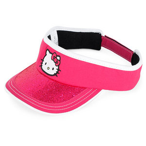 HELLO KITTY THE COLLECTION JR SPORTS VISOR MAGENTA
