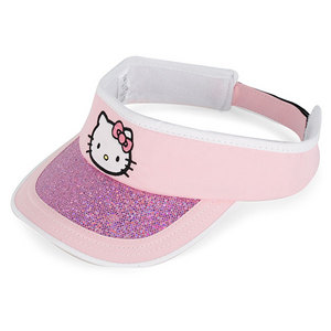 HELLO KITTY THE COLLECTION JR SPORTS VISOR PINK