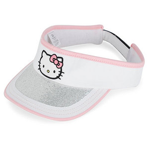 HELLO KITTY THE COLLECTION JR SPORTS VISOR WHITE