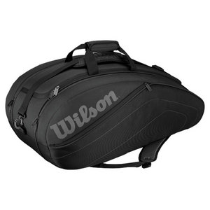 WILSON CLUB 9 PACK TENNIS BAG BLACK
