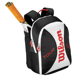 WILSON TOUR TENNIS BACKPACK BLACK/WHITE/RED