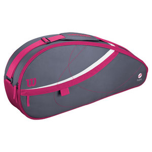 WILSON HOPE 3 PACK TENNIS BAG GRAY/PINK