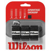 WILSON Advantage Tennis Overgrip 3 Pack Black