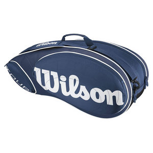 WILSON TOUR 6 PACK TENNIS BAG BLUE/WHITE