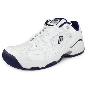 PRINCE MENS VIPER VI LOW TENNIS SHOES WH/NY/SIL