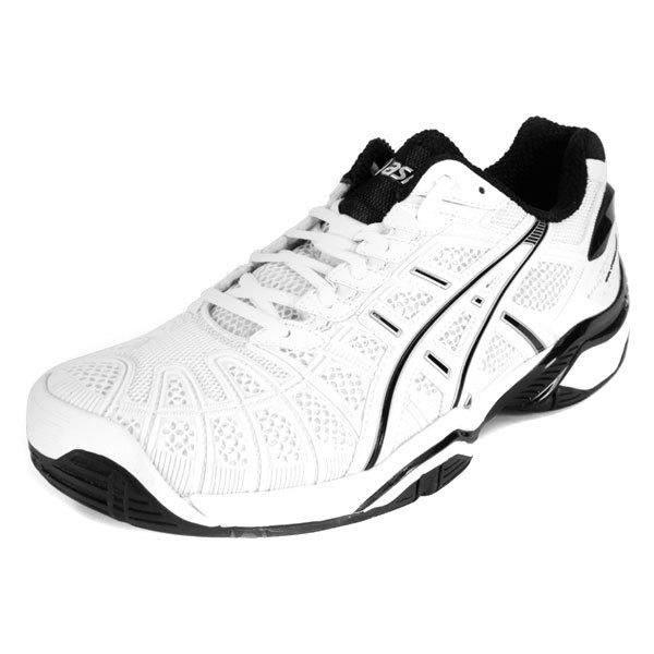 Men's Gel Resolution 3 White/Black Tennis Shoes