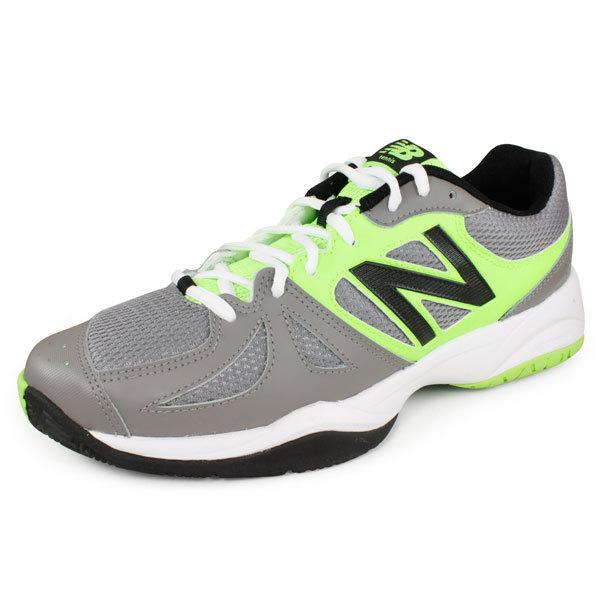 Men's 696 D Width Tennis Shoes Silver/Green