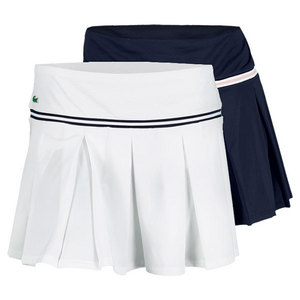 LACOSTE WOMENS PLEATED TECH PIQUE SKIRT W/SHORT