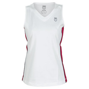 K-SWISS WOMENS SIDE PANEL TANK WHITE/ROSE