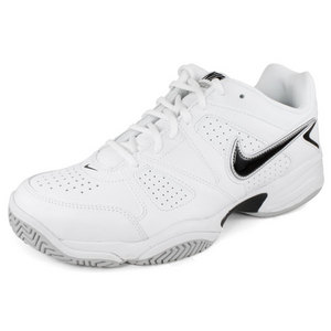 NIKE MENS CITY COURT VII 4E SHOES WHITE/GREY